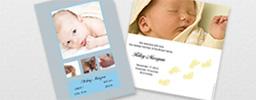 Anuncio de bebé con foto