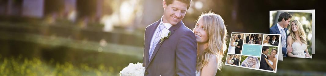 Cartes de remerciement mariage