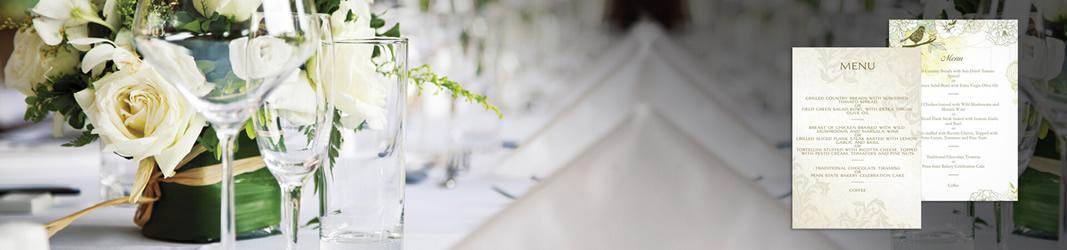 Menuer til bryllupper og fester