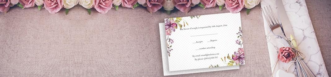 Designs para RSVP que condizem com os seus convites